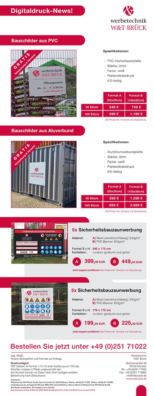 Sicherheitsbanner Und Werbeschilder Inklusive Versand Werbetechnik